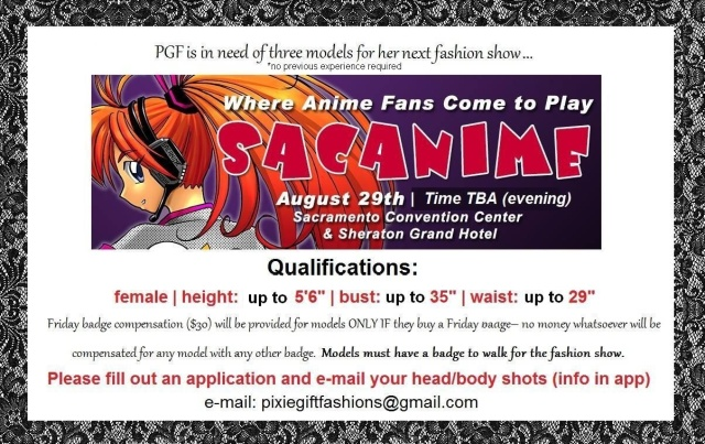LOOKING FOR MODELS WHO WILL ALREADY BE AT THIS EVENT!